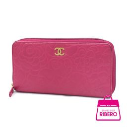 【Price Down】 Chanel Camellia Purse Lambskin Fuchsia Pink A 5008 degree AB USED [pre]