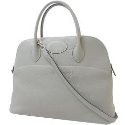 HERMES Hermes Bag Handbag Shoulder Bag Boledo 35 Triillon Clemmance Grimette Gray Silver Hardware A Engraved 2017 Boledo 35 cm 2 Way Bag
