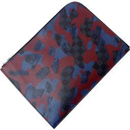 Louis Vuitton Vuitton Bag Clutch Bag Second Bag Pochette Jules GM Damier Cobalt Camouflage Blue Bordeaux Leather LOUIS VUITTON Louis Vuitton Biton Mens Handbag