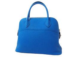 HERMES Hermes Bag Handbag Shoulder Bag Bored 31 Trillon Clements Blue Hydra Blue Silver Hardware X Engraved Ladies 2WAY Bag