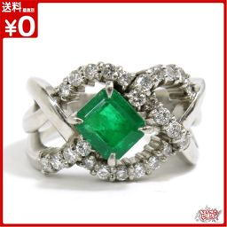 Emerald 1.02ct Diamond total 0.50ct Pt 900 ring