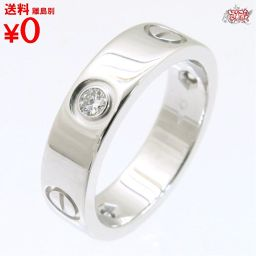 Love ring half diamond WG 3PD