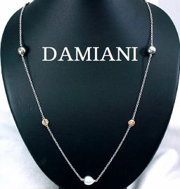 DAMIANI『ダミアーニ』750(K18WG/PG) 南洋パール ダイヤ入 ネックレス ケース付き 真珠