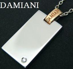 DAMIANI『ダミアーニ >750(K18WG/PG) ダイヤ入 プレート ネックレス