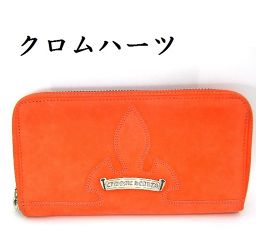 Chrome Hearts 'Chrome Hearts' Leather Wallet Purse Invoice (Copy) with Orange [Unused Items]