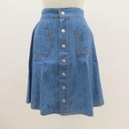 美品 JILLSTUART(ジルスチュアート)スカート 前ボタン デニムスカート SizeS