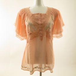美品 Pinky&Dianne(ピンキー&ダイアン)ブラウス 刺繍入り Size38