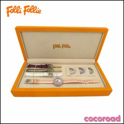Folli Follie (Folli Follie) Ladies Watch White Shell Rhinestone Bezel WF 0 A 55 S