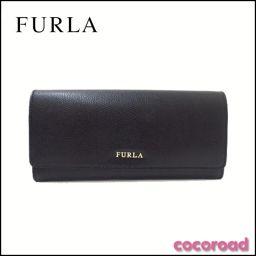 美品 Furla(フルラ)トリッリ レザー 2つ折長財布 BK 00803218