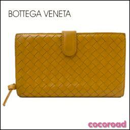 BOTTEGAVENETA(ボッテガヴェネタ) 二つ折り長財布 イントレチャート【Ce野々市店】