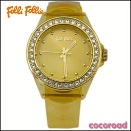 美 品 Folli Follie (フ リ フ ォ リ) Ladies Watch Silicon Jelly Watch WF13P079ZP0-0R