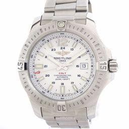 美品 BREITLING(ブライトリング) コルト A17388 オートマチック 自動巻き ホワイト文字盤 SS  メンズ腕時計