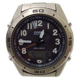 ジャンク CASIO(カシオ)腕時計  CASIO ウェーブセプター 電波ソーラー  DAW-100