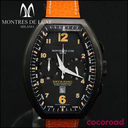 MONTRES DE LUXE(モントレス・デ・ラックス) ESTREMO クロノグラフ クォーツ 腕時計 1471[ce]【中古】