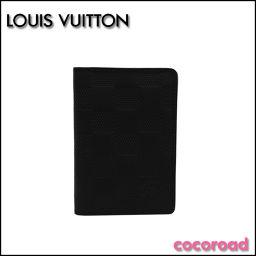 LOUIS VUITTON ダミエ・アンフィニ オーガナイザードゥポッシュ カードケース ブラック N63197[ce]【中古】