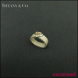 TIFFANY&Co.(ティファニー) オープンハート メッシュ リング シルバー925 Size#8 オープン