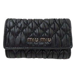 美品 MIUMIU(ミュウミュウ) マテラッセ 6連キーケース 5M0222 ブラック
