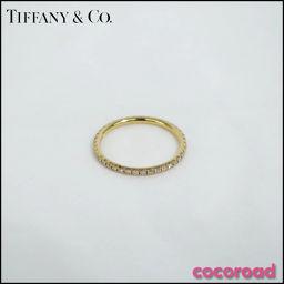 美品 TIFFANY&Co.(ティファニー)指輪 メトロリング フルサークル ダイヤモンド K18PG Size
