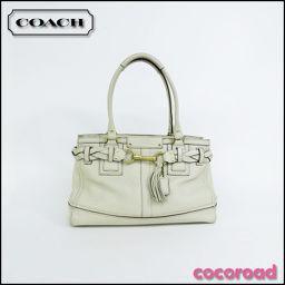 COACH(コーチ)ラージキャリオールバッグ オフホワイト 10529[ce]【中古】