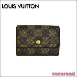 LOUIS VUITTON(ルイヴィトン)ダミエ ポルトモネ・プラ コインケース N61930[ce]【中古】
