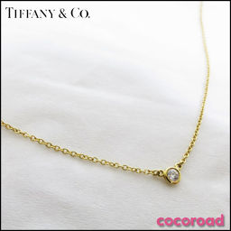 TIFFANY&Co.(ティファニー)バイザヤード ネックレス K18YG[ce]【中古】