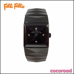 Beauty goods Folli Follie (Folli Follie) wrist watch Square ladies watch WF1Y009BD