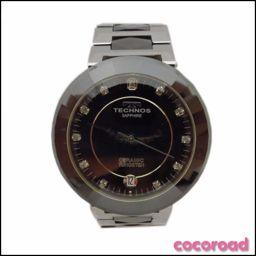 美品 TECHNOS(テクノス)ボーイズ腕時計 タングステン セラミック  T9091TB BK【Ce野々市店】