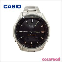 美品 CASIO(カシオ)メンズ腕時計 リニエージ 文字盤ブラック【Ce野々市店】