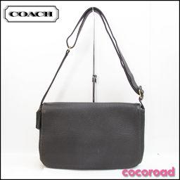 COACH(コーチ)レザーショルダーバッグ 斜め掛け ダークブラウン 4928
