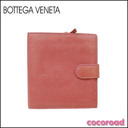 BOTTEGA VENETA(ボッテガヴェネタ)二つ折り財布 ピンク[ya]