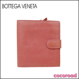BOTTEGA VENETA(ボッテガヴェネタ)二つ折り財布 ピンク[ya]【中古】