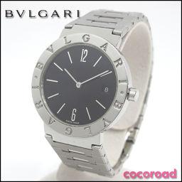 BVLGARI ブルガリブルガリ BB 33 SS クォーツ 黒文字盤[ya]【中古】