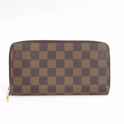 Beauty goods LOUIS VUITTON (Louis Vuitton) long wallet Zippy wallet round fastener Damier N60