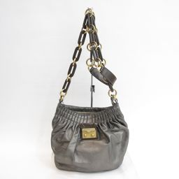 MARC BY MARC JACOBS(マークバイマークジェイコブス)チェーンショルダーバッグ メタリック レザ