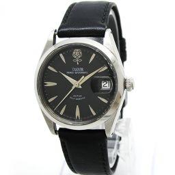 TUDOR(チュードル)腕時計 プリンス オイスターデイト 7966 デカバラ 黒文字盤 社外ベルト 自動巻き