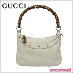 GUCCI (Gucci) Bamboo Studs One Shoulder Bag 137387 Ivory [ya] 【Used】 ※!