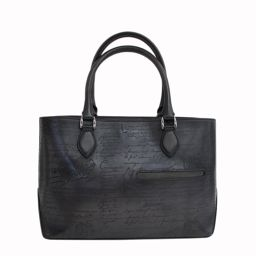 Berluti (Berlutti) Tougart Tote Venice Calligraphy Leather Leather Black Gray Shoulder Bag Business
