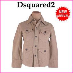 ディースクエアード DSQUARED2 ジャケット レディース ♯38サイズ ボタンポケット付き シングル ベージュ 良品 人気 【中古】 E1198 .