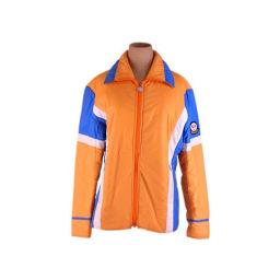 モンクレール MONCLER アウター キルティング レディース スキーウェア ロゴ オレンジ×ブルー系 人気 激安 【中古】 F1311 .