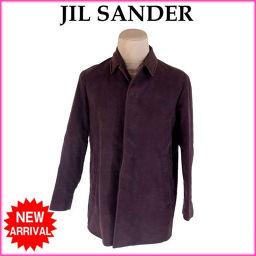 ジルサンダー JIL SANDER コート シングル ハーフ丈 メンズ ♯R46サイズ ステンカラー ダークブラウン 激安 人気 【中古】 G1210 .