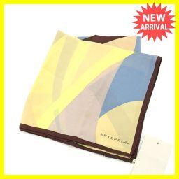 アンテプリマ ANTEPRIMA スカーフ 大判サイズ ファッションアイテム レディース 幾何学柄 イエロー×ブ
