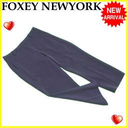 フォクシーニューヨーク FOXEY NEWYORK パンツ クロップド レディース ♯38サイズ センタープレス