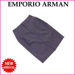 (美品) エンポリオアルマーニ/EMPORIO ARMANI/スカート/ヒザ丈/スリット入り/レディース/タイト
