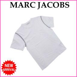 マークジェイコブス MARC JACOBS Tシャツ カットソー メンズ Sサイズ 袖ライン入り ホワイト×グレ