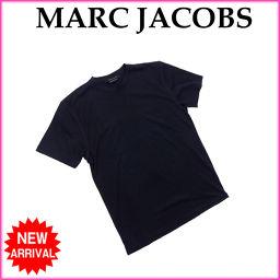 マークジェイコブス MARC JACOBS Tシャツ カットソー メンズ Mサイズ 袖ライン入り ブラック C/
