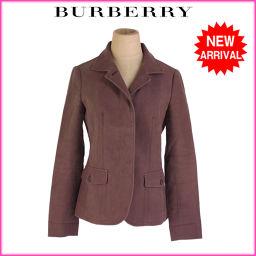 バーバリー BURBERRY ジャケット ポケット付き シングル レディース ♯38サイズ 裏地ノバチェック コ
