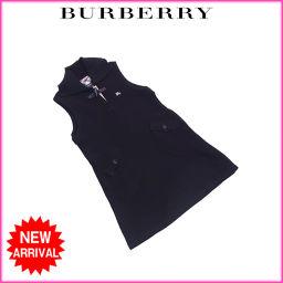 バーバリー BURBERRY ワンピース トグルボタン付き ニット ガールズ キッズ110Aサイズ ノースリ ホ