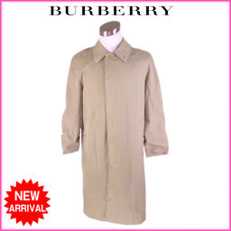 バーバリー BURBERRY コート 裏地ノバチェック ロング丈 メンズ ♯44REGサイズ シングル ベージュ