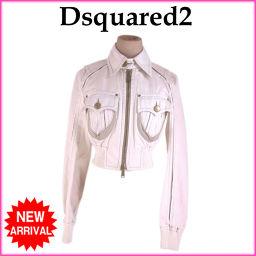 ディースクエアード DSQUARED2 ジャケット ショート丈 レディース ♯40サイズ 裾ゴムシャーリング ラ