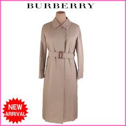 バーバリー BURBERRY コート ロング丈 シングル レディース ♯7AB2サイズ ノバチェック柄ライナー付